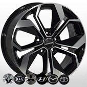 Автомобильный колесный диск R16 5*114,3 ZW-BK5168 BP - W6.5 Et40 D67.1