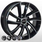 Автомобильный колесный диск R17 5*112 SK-5290 BP (Skoda, VW, Seat, Audi) - W7.0 Et40 D57.1