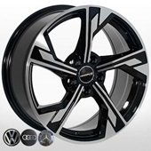 Автомобильный колесный диск R17 5*112 A-5419 BP - W7.5 Et35 D66.6