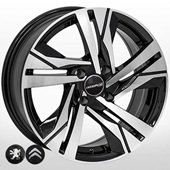 Автомобильный колесный диск R16 4*108 PG-5543 BP (Peugeot, Citroen) - W7.0 Et25 D65.1
