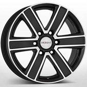 Автомобильный колесный диск R17 6*139,7 TJ Black Polished - W8 Et20 D106.1