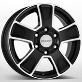 Автомобильный колесный диск R16 5*112 VAN Black Polished - W6.5 Et52 D66.6